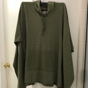 Olive Green Pancho